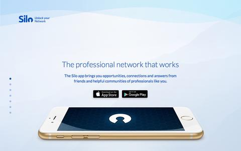 Screenshot of Home Page silo.co - Silo - Unlock Your Network - captured Oct. 2, 2016