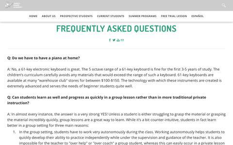 Screenshot of FAQ Page familypianoacademy.com - FAQ - Family Piano Academy - captured June 5, 2017