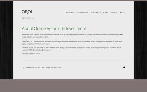 Screenshot of About Page oroi.com - About — OROI - captured Oct. 9, 2014