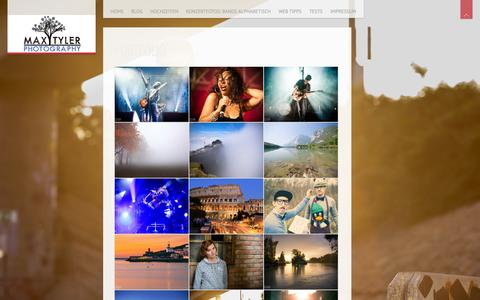 Screenshot of Home Page maxtyler.at - MaxTyler Photography | - captured Oct. 8, 2014