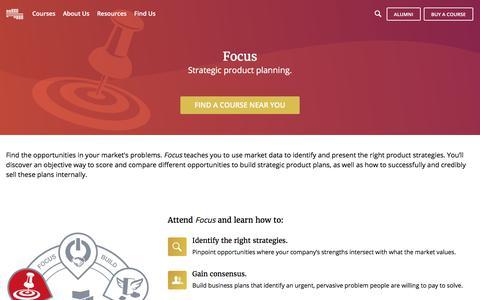 Focus Course   Pragmatic Marketing