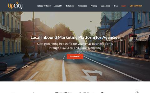 Screenshot of Home Page upcity.com - SEO Software | Inbound Marketing Software | UpCity - captured Oct. 1, 2015