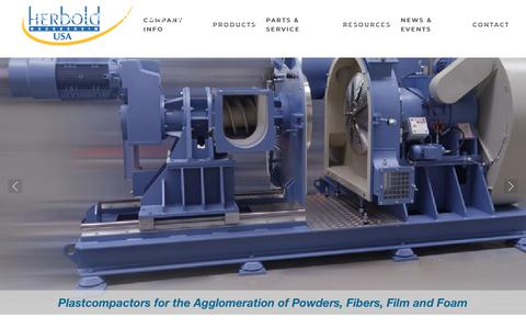 Screenshot of Home Page herboldusa.com - Plastics Recycling Systems & Size Reduction Equipment for the Plastics Industry - Home - captured July 19, 2018