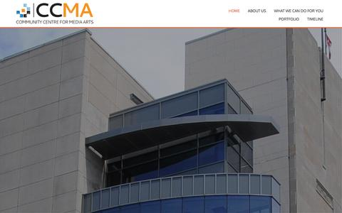 Screenshot of Home Page ccma.ws - CCMA | Community Centre for Media Arts - captured Jan. 29, 2016