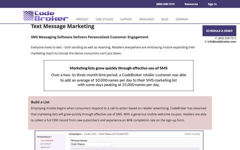 Text Message Marketing Software for Retailers| CodeBroker