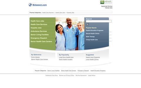 Screenshot of Landing Page mckesson.com - Mckesson.com - captured July 25, 2017