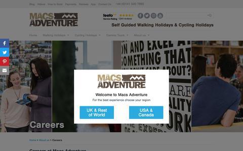 Screenshot of Jobs Page macsadventure.com - Careers - captured July 14, 2018