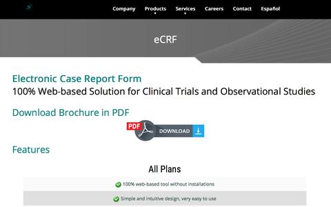 Screenshot of Pricing Page sofpromed.com - eCRF – CRO Clinical Trials Spain – Ensayos Clínicos España - captured June 16, 2017