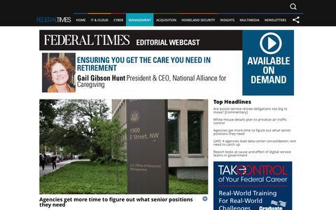 Screenshot of Team Page federaltimes.com - Federal Times - Management - captured June 5, 2017