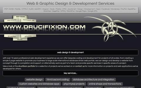 Screenshot of Services Page drucifixion.com - Services - (Freelance Website Design and Development based in Northiam, near Rye, East Sussex) - drucifixion.com - captured Sept. 30, 2018