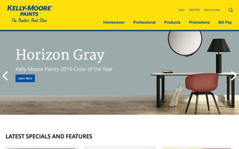 Screenshot of Home Page kellymoore.com - Quality Paints in Unlimited Colors | Kelly-Moore Paints - captured Jan. 14, 2016