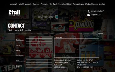 Screenshot of Contact Page steil.nu - Reclamebureau Zwolle - Steil concept & creatie - captured Sept. 24, 2018