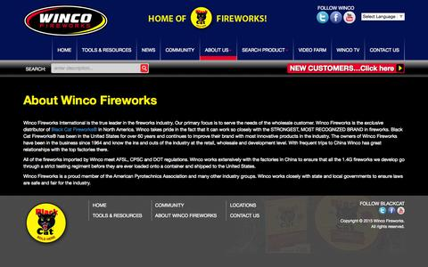 Screenshot of About Page wincofireworks.com - About Winco Fireworks - Winco Fireworks - captured Nov. 13, 2015