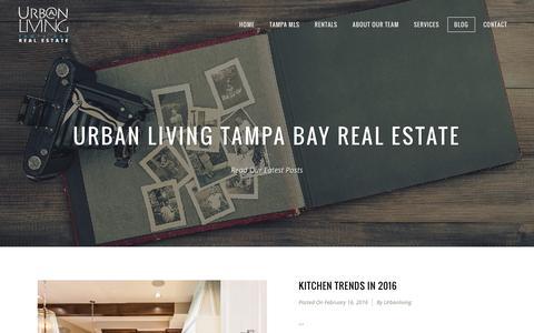 Screenshot of Blog urbanlivingtampa.com - Blog - Urban Living Tampa Bay Real Estate - captured Feb. 17, 2016
