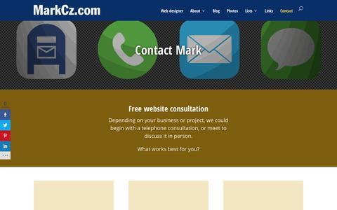 Screenshot of Contact Page markcz.com - Contact: Mark Czerniec, Web developer | Racine, Wisconsin - captured Feb. 12, 2016