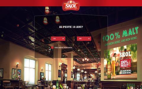 Screenshot of Home Page skolbeer.ro - Bere SKOL, 100% Malt, 100% Bere | Skol Beer - captured Oct. 11, 2015