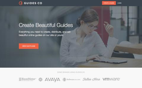 Screenshot of Support Page guides.co - Publish a Guide | Guides.co - captured Dec. 17, 2014