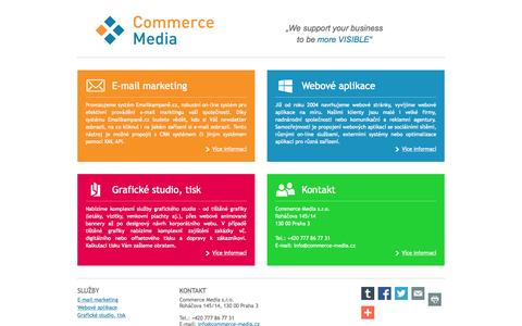 Screenshot of Home Page commercemedia.cz - Commerce Media - captured June 20, 2015