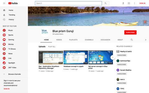 Blue prism Guruji - YouTube - YouTube