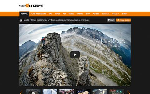 Screenshot of Home Page sport-extreme-videos.com - Sport Extreme Videos l Tous les Films de Sports Extremes - captured Aug. 31, 2015