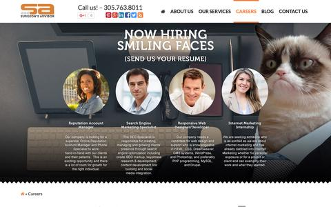Screenshot of Jobs Page surgeonsadvisor.com - Internet Marketing Jobs | Careers - captured Nov. 23, 2015