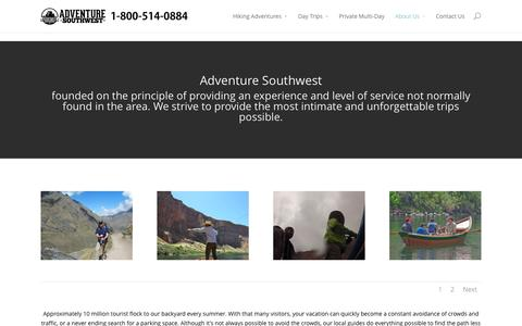 Screenshot of About Page adventuresouthwest.com - About Us - Adventure Southwest - captured Oct. 27, 2014