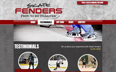 Screenshot of Testimonials Page skatefenders.com - Skate Fenders | Home | TESTIMONIALS - captured Nov. 14, 2017
