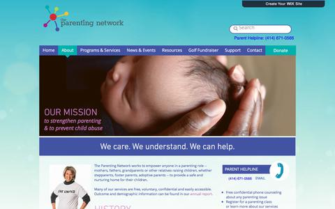 Screenshot of About Page theparentingnetwork.org - parenting | About - captured Nov. 16, 2017