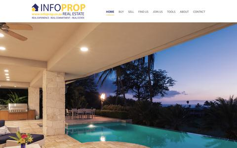 Screenshot of Home Page infoprop.co.za - South African Real Estate   InfoProp - captured Sept. 28, 2018