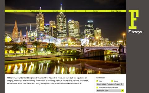 Screenshot of Home Page fitzroys.com.au - Home | Fitzroys Pty Ltd | Commercial and Residential Real Estate Agents - captured Oct. 6, 2014