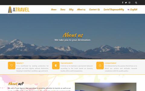 Screenshot of About Page andeantravel.net - About us - Andean Travel - captured July 28, 2018