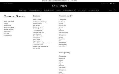 Screenshot of Site Map Page johnhardy.com - Sites-johnhardy-Site - captured Oct. 1, 2015