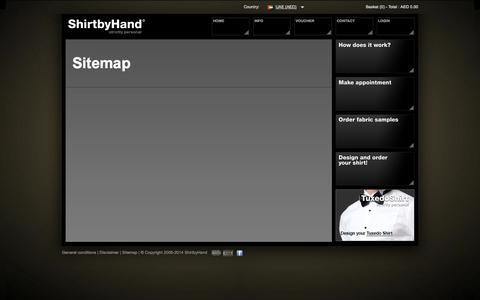 Screenshot of Site Map Page shirtbyhand.ae - Shirtbyhand - captured Oct. 7, 2014