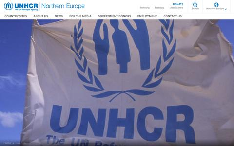 Screenshot of About Page unhcr.org - About Us - UNHCR Northern Europe - captured Nov. 27, 2018