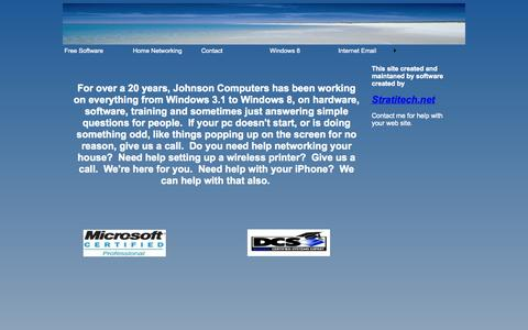 Screenshot of Home Page johnsoncomputers.info - JohnsonComputers - captured Sept. 30, 2014