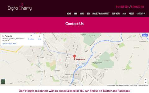 Screenshot of Contact Page digitalcherry.co.uk - Contact Us | Digital Cherry - captured Oct. 5, 2014