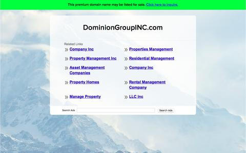 Screenshot of Home Page dominiongroupinc.com - DominionGroupINC.com - captured Oct. 22, 2017