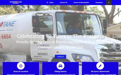Screenshot of Home Page thermotane.com captured Nov. 17, 2017