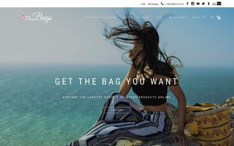 Screenshot of Home Page bluefishpools.com - Wayuu Mochila Bags - Official Online Store ⋆ Be Different, Be Unique, BE WAYUU - captured Oct. 6, 2018
