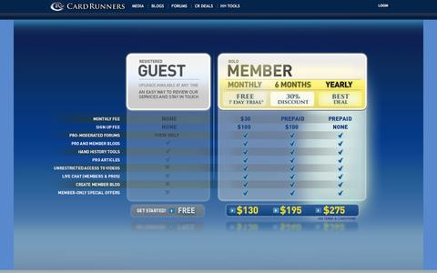 Screenshot of Signup Page cardrunners.com - CardRunners - Signup - captured Sept. 19, 2014
