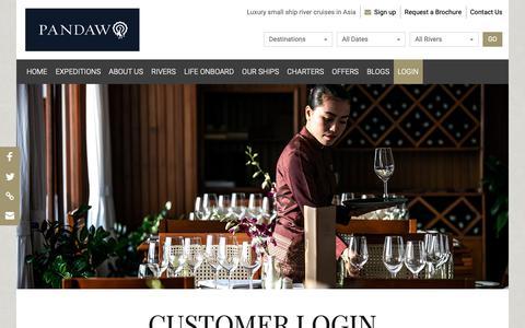 Screenshot of Login Page pandaw.com - Customer Log In | Pandaw.com - captured Nov. 9, 2018