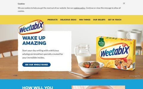 Screenshot of Home Page weetabix.co.uk - Weetabix Cereals - Wholegrain Healthy Breakfast Cereals - captured June 19, 2017