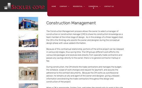 Screenshot of Team Page sicklescorp.com - Management - captured Oct. 20, 2018
