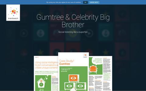 Screenshot of Case Studies Page brandwatch.com - Gumtree | Brandwatch - captured Oct. 20, 2017