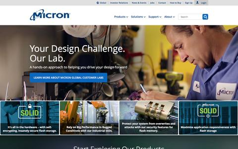 Screenshot of Home Page micron.com - Micron Technology, Inc. - Home | Memory and Storage Solutions - captured Feb. 4, 2016