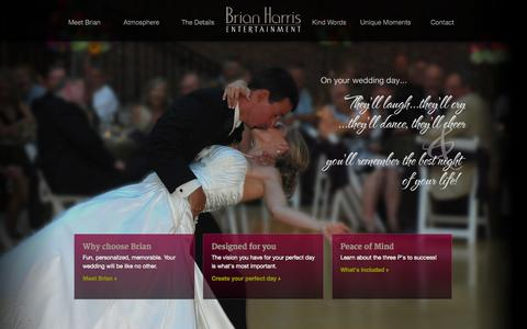 Screenshot of Home Page brianharrisentertainment.com - Wedding DJ & MC | Dayton, Ohio | Brian Harris Entertainment - captured Nov. 5, 2015