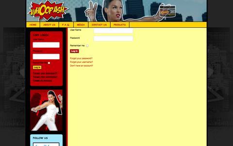 Screenshot of Login Page whoopash.com - whoopash.com - captured Sept. 30, 2014