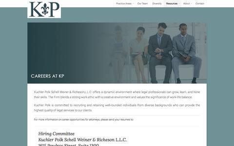 Screenshot of Jobs Page kuchlerpolk.com - Careers | Kuchler Polk - captured Nov. 3, 2014