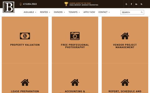 Screenshot of Services Page berendtproperties.com - Services - Berendt Properties - captured June 1, 2017