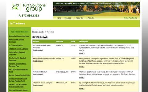 Screenshot of Press Page turfsolutionsgroup.com - Ballard County Public School Indoor Practice Facility | La Center, KY | Press Release - captured June 17, 2017